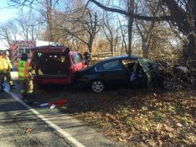 This two vehicle crash in Willistown sent three patients to a local hospital