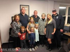 Assistant Chief Vaughn and his family.